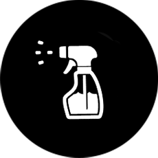 Black Spray Bottle Icon